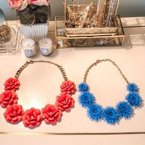 JCREW Flower Necklace Set